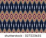 geometric ethnic pattern... | Shutterstock .eps vector #327223631