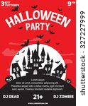 halloween party black red white ... | Shutterstock .eps vector #327227999