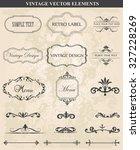 decorative vintage set of... | Shutterstock .eps vector #327228269