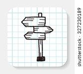 doodle signs | Shutterstock . vector #327230189
