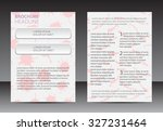 abstract brochure design.flyer... | Shutterstock .eps vector #327231464