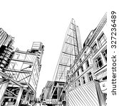 london city hand drawn.... | Shutterstock .eps vector #327236489