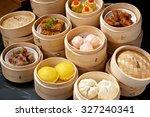 chinese yumcha dimsum set in... | Shutterstock . vector #327240341