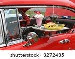 Car Hop Food And Antique Car