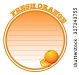 paper design with fresh orange... | Shutterstock .eps vector #327243755