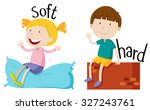 opposite adjective with soft... | Shutterstock .eps vector #327243761