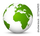 white vector globe icon with...   Shutterstock .eps vector #327246905