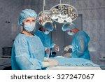 team surgeon at work in... | Shutterstock . vector #327247067