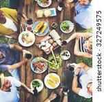 friends friendship outdoor... | Shutterstock . vector #327249575