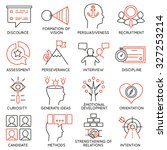 vector set of 16 icons related... | Shutterstock .eps vector #327253214