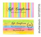 gift certificate  voucher ... | Shutterstock .eps vector #327255731