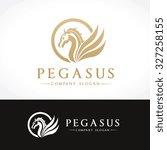 pegasus logo template   Shutterstock .eps vector #327258155