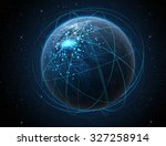 a generic world planet with... | Shutterstock . vector #327258914