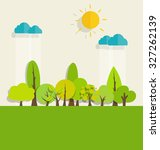 eco friendly. ecology concept... | Shutterstock .eps vector #327262139