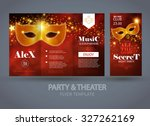 party   theater flyer template. ... | Shutterstock .eps vector #327262169