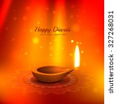 beautiful diwali background... | Shutterstock .eps vector #327268031