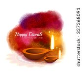 happy diwali colorful design... | Shutterstock .eps vector #327268091