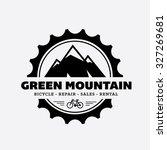 bicycle shop logo. mountain... | Shutterstock .eps vector #327269681