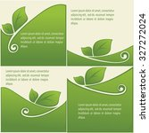 vector collection of leaf... | Shutterstock .eps vector #327272024