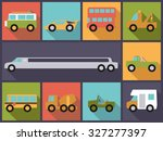 automotive icons vector... | Shutterstock .eps vector #327277397