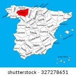 leon map  spain province vector ... | Shutterstock .eps vector #327278651