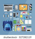 flat design vector illustration ... | Shutterstock .eps vector #327282119