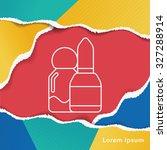 lipstick line icon   Shutterstock .eps vector #327288914