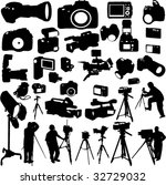 cameraman photographers and... | Shutterstock .eps vector #32729032