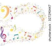 multicolor musical design from... | Shutterstock . vector #327290447