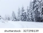 christmas background with snowy ... | Shutterstock . vector #327298139