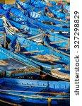 Beautiful Array Of Blue Boats...