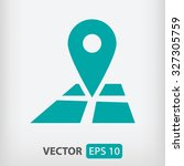 pin on the map icon. one of set ...
