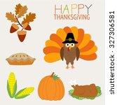 happy thanks giving vector.... | Shutterstock .eps vector #327306581