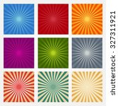 set of backgrounds ray or... | Shutterstock .eps vector #327311921
