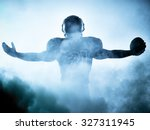one american football player... | Shutterstock . vector #327311945