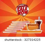 delicious food design  vector... | Shutterstock .eps vector #327314225