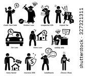 personal liabilities   debt ... | Shutterstock . vector #327321311