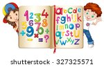 Children With Book Of Numbers...