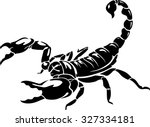 black scorpion isolated on... | Shutterstock .eps vector #327334181