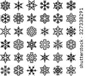 snowflake icon collection  ... | Shutterstock .eps vector #327338291