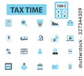tax  accountant icons | Shutterstock .eps vector #327344309