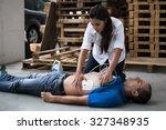 defibrillator electrodes | Shutterstock . vector #327348935