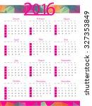 simple 2016 calendar  design ... | Shutterstock .eps vector #327353849