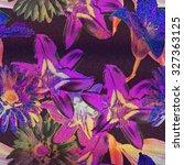 Art Vintage Floral Horizontal...