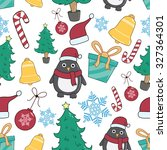seamless pattern of christmas... | Shutterstock .eps vector #327364301