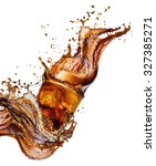 cola splash isolated on white | Shutterstock . vector #327385271