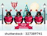 Carolers  Penguins Christmas...