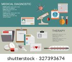 flat medical background. first... | Shutterstock .eps vector #327393674