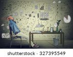 young man entrepreneur relaxing ... | Shutterstock . vector #327395549