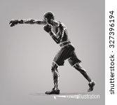 boxing. vector artwork in the... | Shutterstock .eps vector #327396194